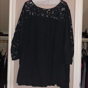 Old Navy Ladies Blouse-charcoal gray